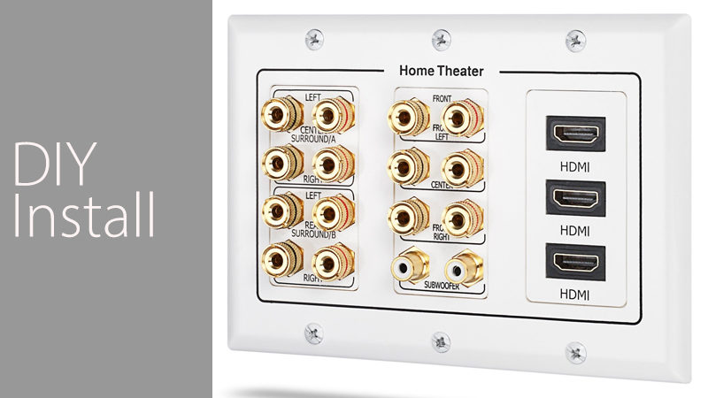 3 Gang Wall Plate Fosmon-DIY